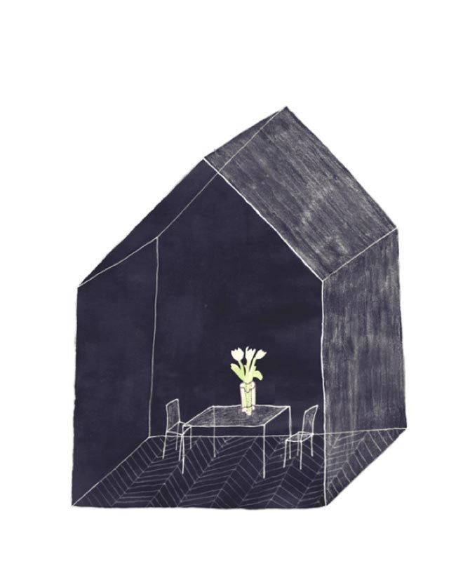 Ana Frois is a Portuguese architect and self-taught illustrator. Her drawings place together archetypal architectures with natural elements and small pieces of an intimate universe. The house, isolated and collective, is one of her recurring subjects: usually drawn with an almost childish trait...