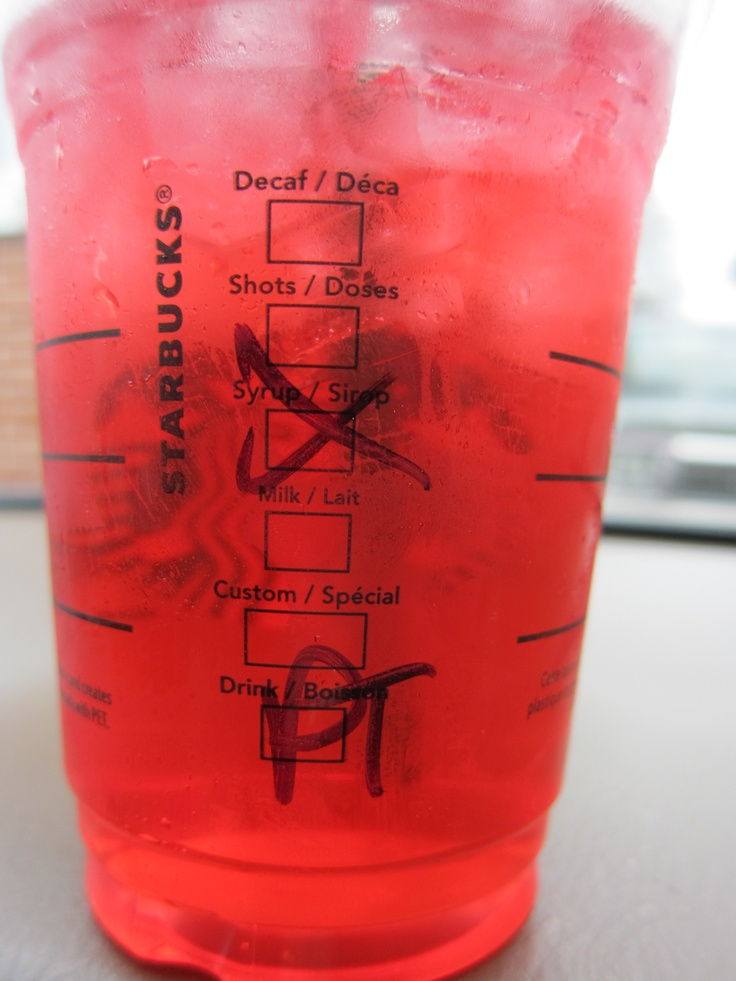Starbucks no sugar added passion iced tea.