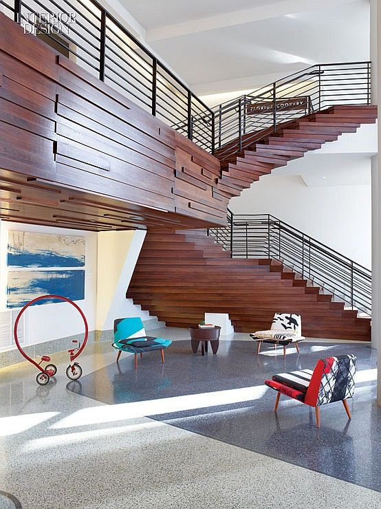 33 best stairway images on pinterest stairs architecture for Miami interior design magazine