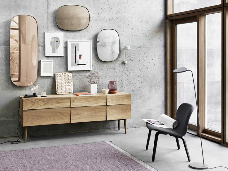 Framed is a new take on the classic framed mirror; not only does it add the functionality of a mirror to your home, but with its depth, organic shape and tone-in-tone colour, it can also be perceived as an art object on the wall.