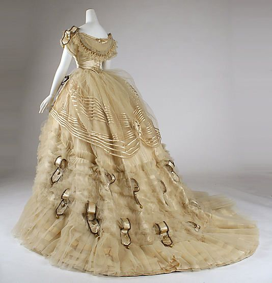 Dress (Ball Gown) Emile Pingat (French, active 1860–96) Date: ca. 1860 Culture: French Medium: silk. Metropolitan Museum of Art.