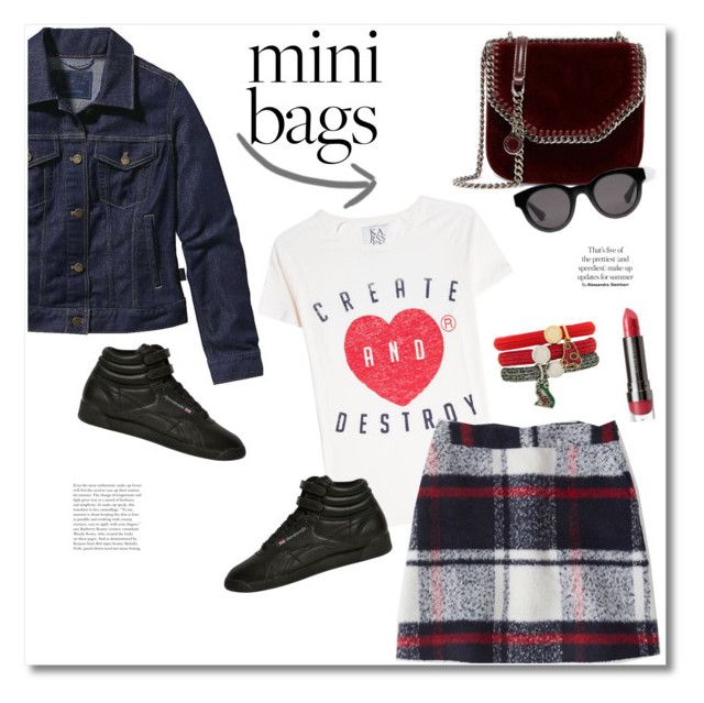 """""""Get the look"""" by vkmd ❤ liked on Polyvore featuring Patagonia, Zoe Karssen, Abercrombie & Fitch, Reebok, Marc Jacobs, LORAC, STELLA McCARTNEY, Gucci and minibags"""