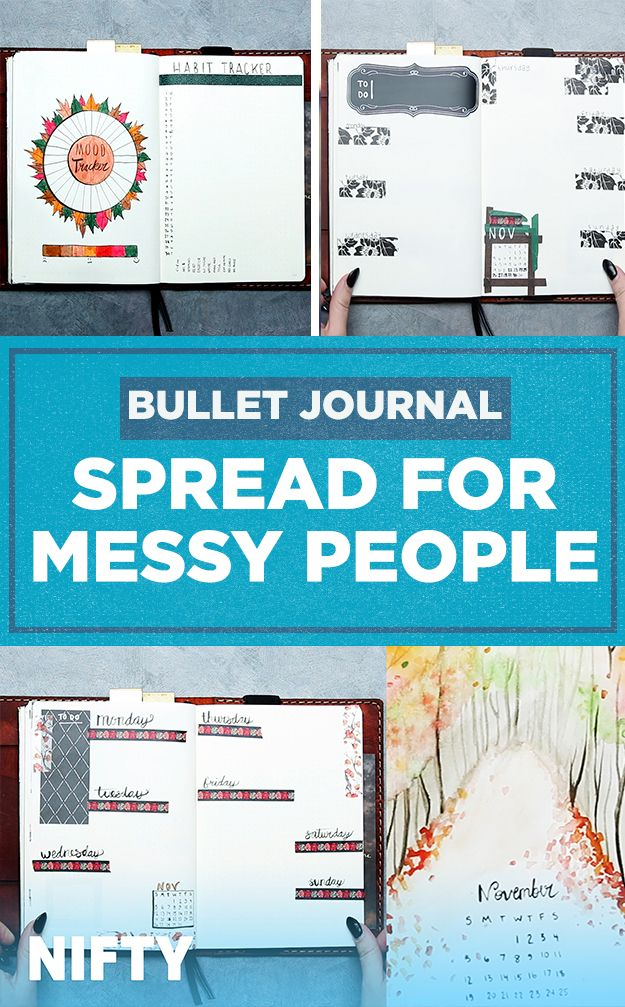 Bullet Journal Spread For Messy People