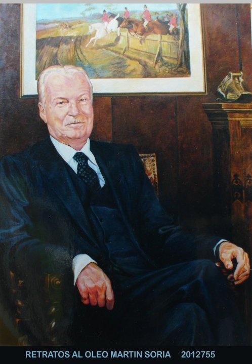 Retrato al óleo de Don Lanton Clark