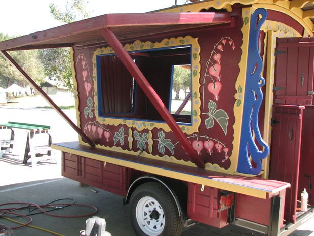 Picture of Gypsy trailers for the Bristol Renaissance Faire with plans @thefstopshere this is the one!!
