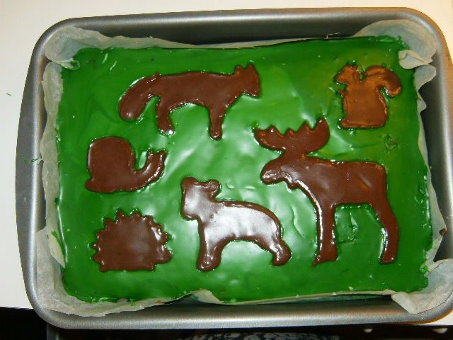 Animals of the forest cake.