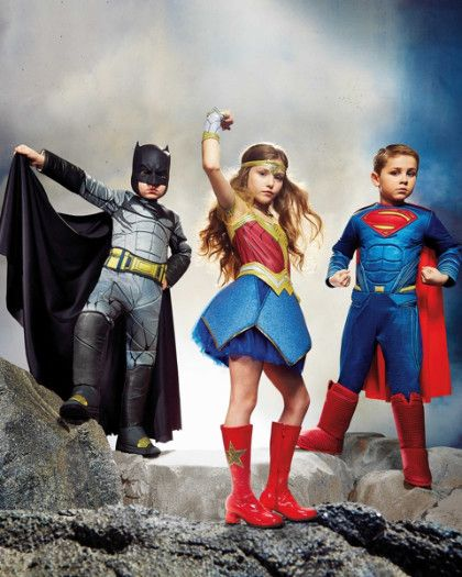 Ultimate Batman Dawn Of Justice Costume For Boys, Ultimate Wonder Woman Dawn Of Justice Costume For Girls, and Ultimate Superman Dawn Of Justice Costume For Boys - Exclusively at Chasing Fireflies!