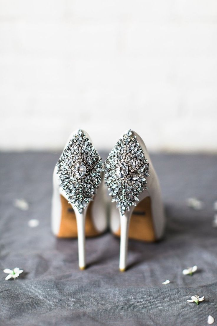 Crystal Embellished Heels for a Dose of Wedding Day Glam #weddingshoes