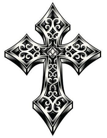 Tribal Celtic Cross Tattoo