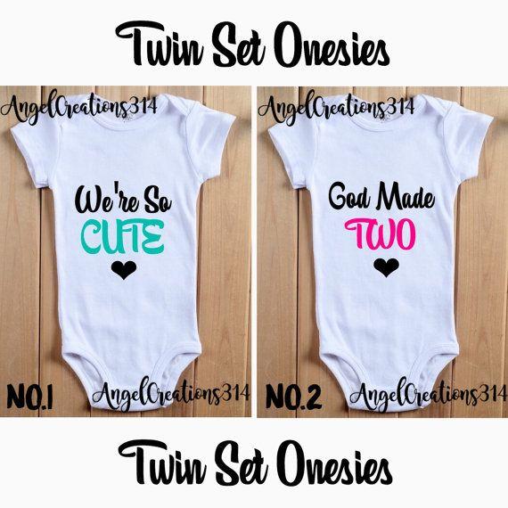 Twin Set Onesies! Boys and Girls! Babyshower Gift!