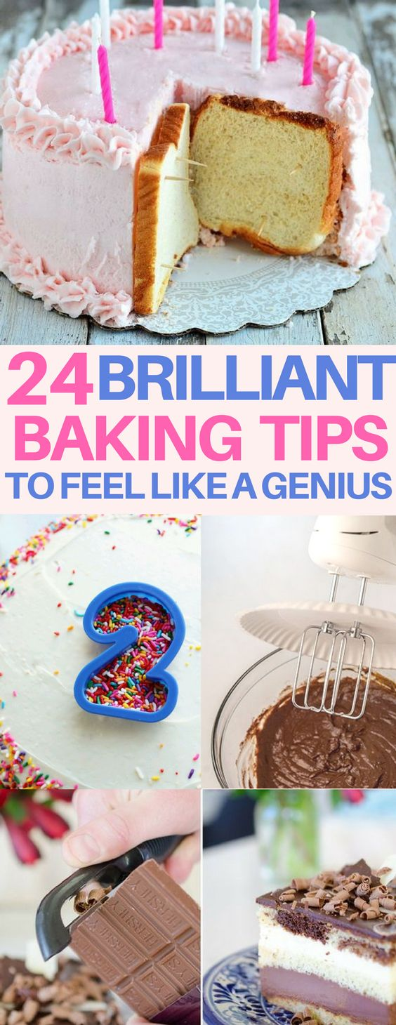 How'd I not know these baking tips and tricks? Amazing hacks that are so easy for cake decorating, baking cookies and more.
