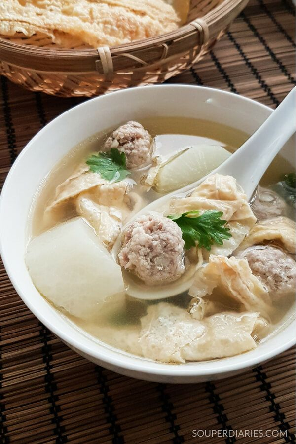 Bean Curd And Meatballs Soup Recipe Chinese Soup Recipes