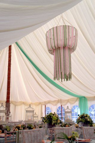 Our Styling Using House Of Bunting Ribbon Chandelier Available To Hire