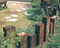 awesome use of railroad ties!