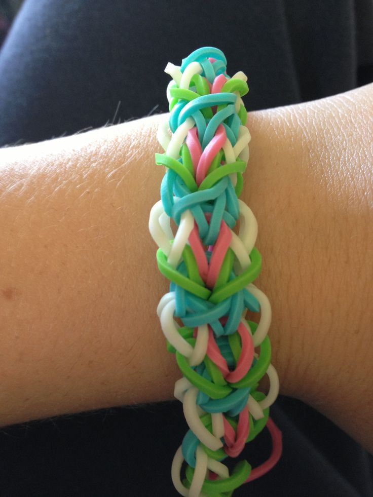 Rainbow loom bracelet I made