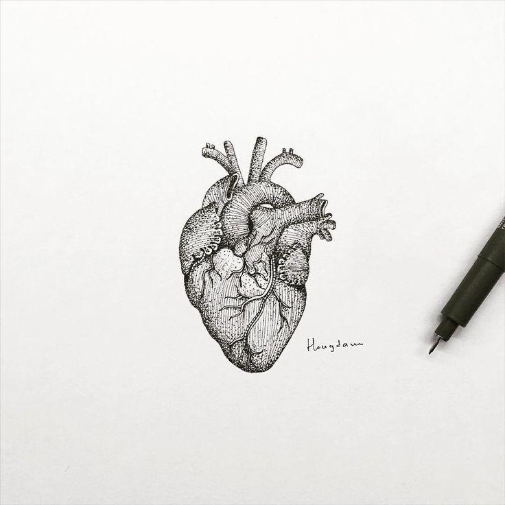 anatomical heart tattoo by hongdam