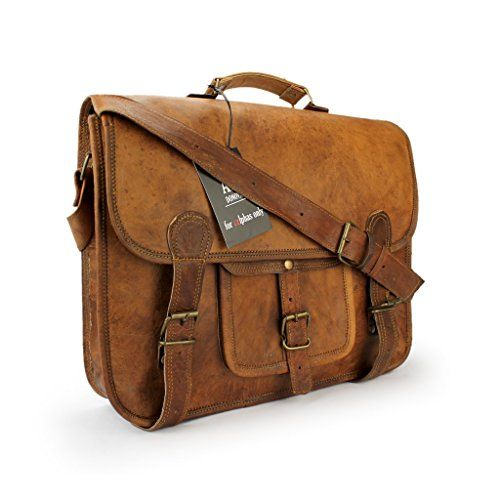 Vintage Leather Bag, Aktentasche, Notebook, Ledertasche, Lehrertasche: Amazon.de: Bekleidung