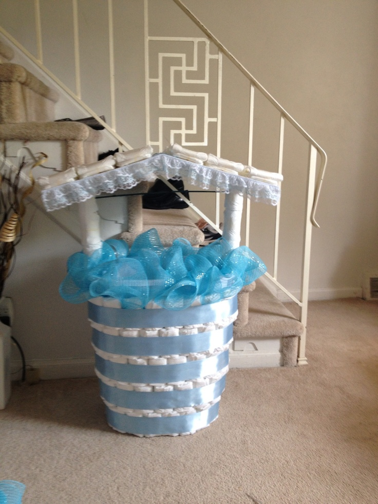 Baby Showers Wishing Well ~ Baby shower wishing well diy pinterest colors the o