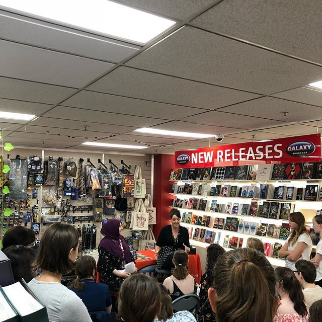 Standing room only at #Graevale launch @galaxybookshopsydney ! @read3rz_revu interviewing!! . . . #bookevent #authors #authortalk #fantasy #australianauthor #australia