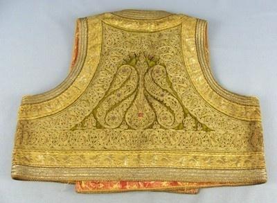 Antique Ottoman Turkish Islamic Gold Thread Hand