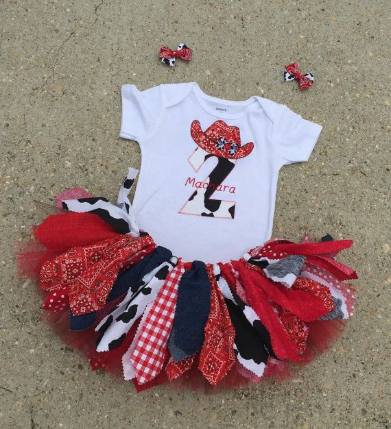 Bandana Cowgirl Birthday outfit red Cowgirl tutu red by LilNicks