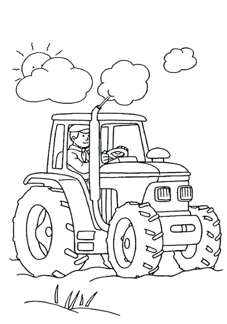 Farm Coloring Pages Ideas For Kids Tractor Coloring Pages
