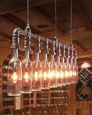 26 Inspirational Diy Ideas To Light Your Home Wine Bottle Chandelierwine