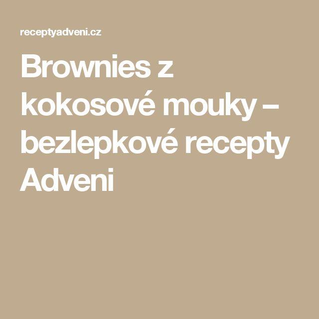 Brownies z kokosové mouky – bezlepkové recepty Adveni