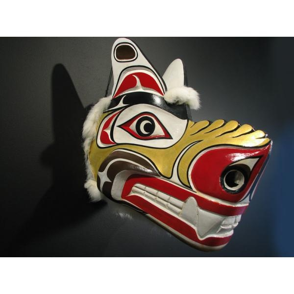 Spirit Bear Mask By Jonathan Jacobson Kwakiutl Coast Salish Art