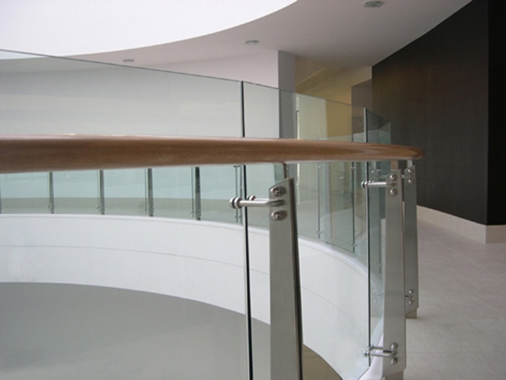 Best Curved Glass Balustrade Featuring Stainless Steel Profiled 400 x 300