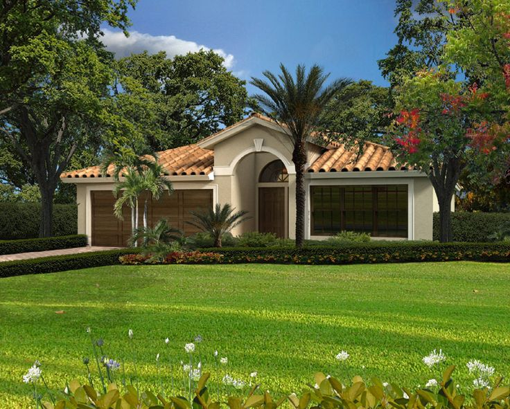 27 best images about house plan model on pinterest for Single story spanish style homes