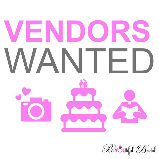 BE A VENDOR! — We are filling our spots for our upcoming shows! If you would like more info about becoming a vendor. Click on our link on our Profile @beyoutifulbridal An send us a request in tab Exhibitor