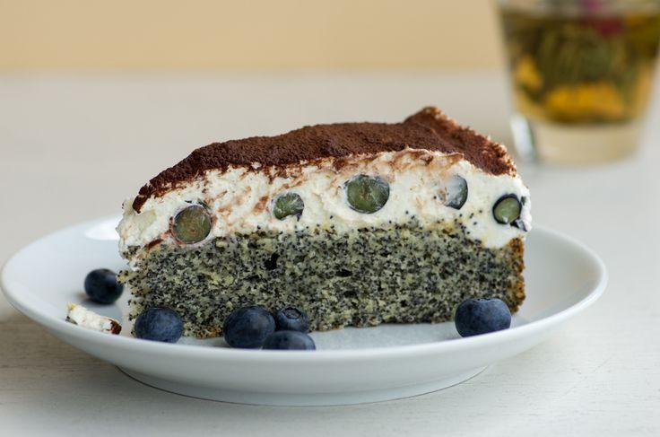 Türkischer Mohnkuchen  mit Blaubeeren, nach Funda's Rezept - mega lecker | Cosy Kitchen