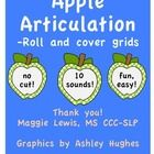 Apple Articulation! 10 sounds! This product contains grids for 10 target sounds to be used in articulation drill sessions for speech therapy. Apple clip art by Ashley Hughes and school-themed word lists makes this perfect for back-to-school! Address multiple targets in one session!