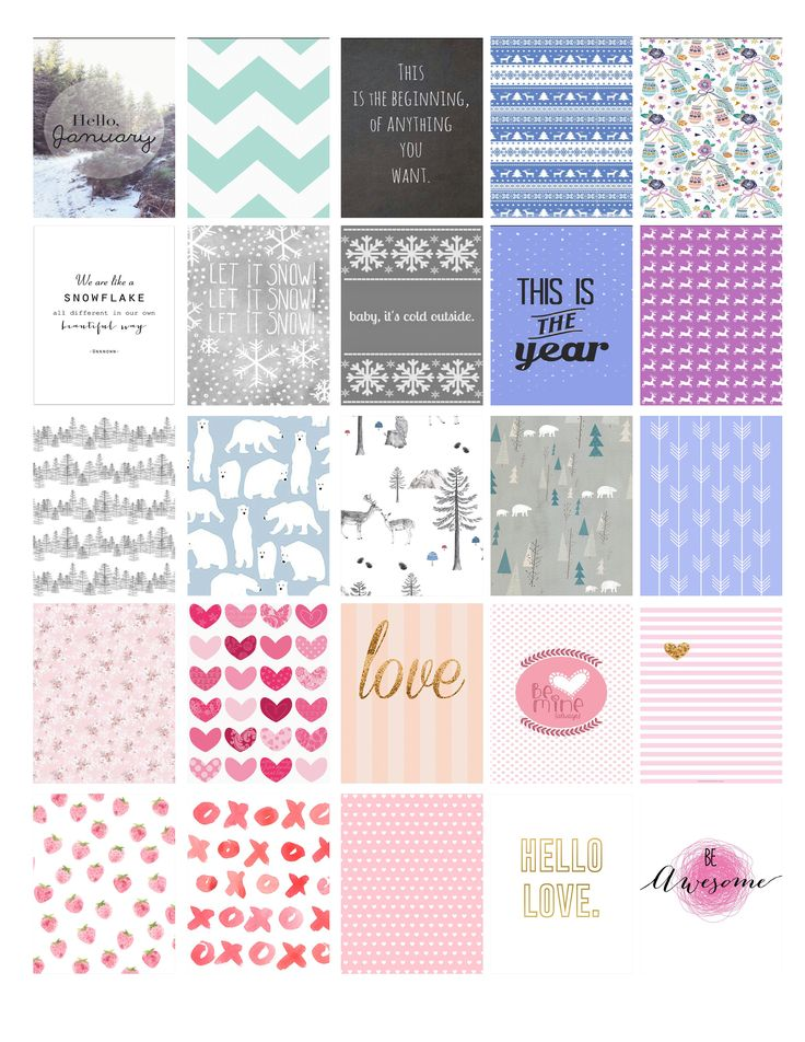 January & February Erin Condren planner Stickers