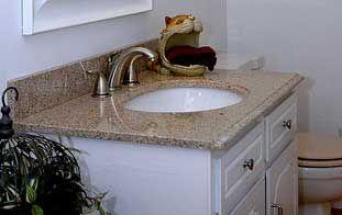 Best 25 granite bathroom ideas on pinterest white for Granite countertops price per linear foot