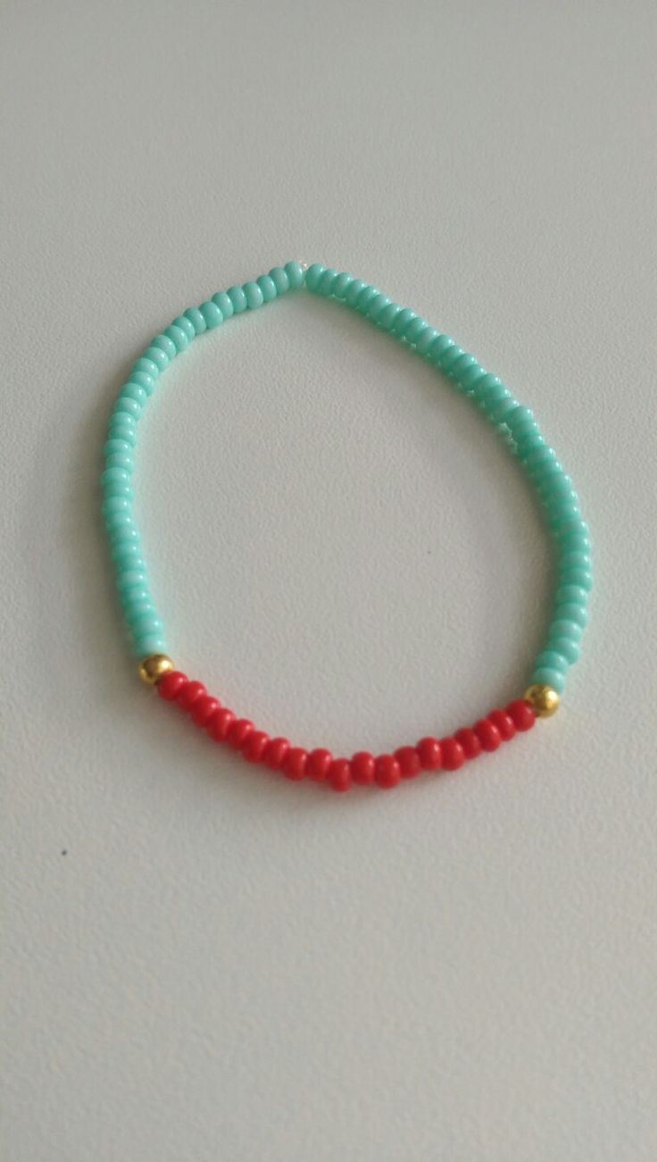 Bracelet ❤ turquoise & coral