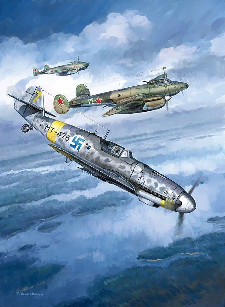 Ме 109 против Пе-2 | Военный самолет