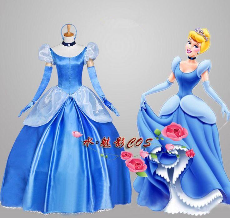 Ladies' Fancy Dress Adult Women Cinderella Princess Dress Cosplay Costume With Bustle