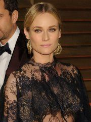 #Diane #Kruger wearing a see through dress at the Vanity Fair ...