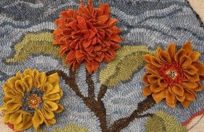 The Merry Hooker Woolens using Vintage buttons