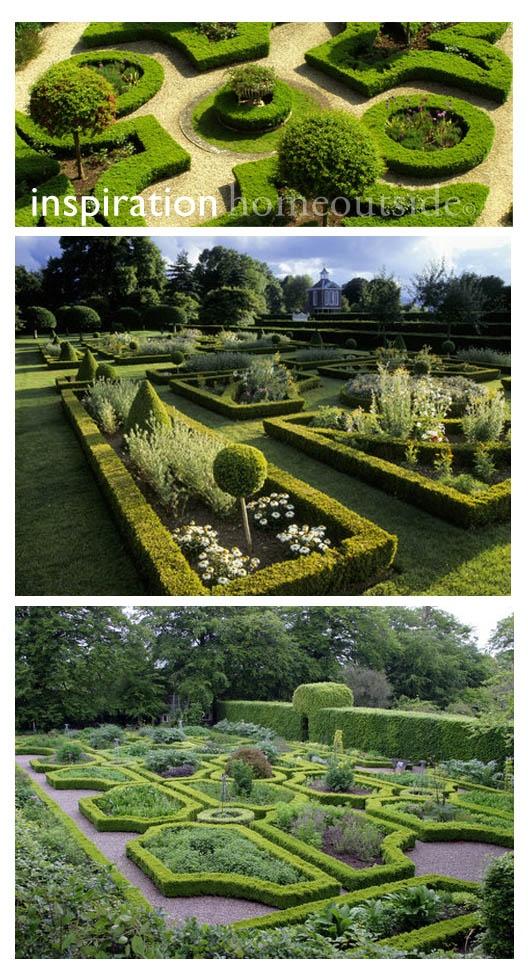 landscape design inspirational images: online design project; six schemes