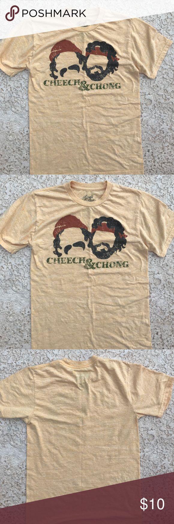 CHEECH & CHONG. YELLOW TShirt. Size Small CHEECH & CHONG. TEE SHIRT SIZE SMALL Cheech & Chong Tops Tees - Short Sleeve