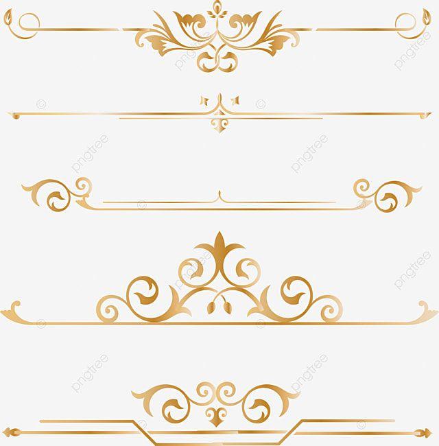 Gold Dividing Line Border Golden Gold Png And Vector With Transparent Background For Free Download Wedding Album Cover Digital Frame Wedding Symbols