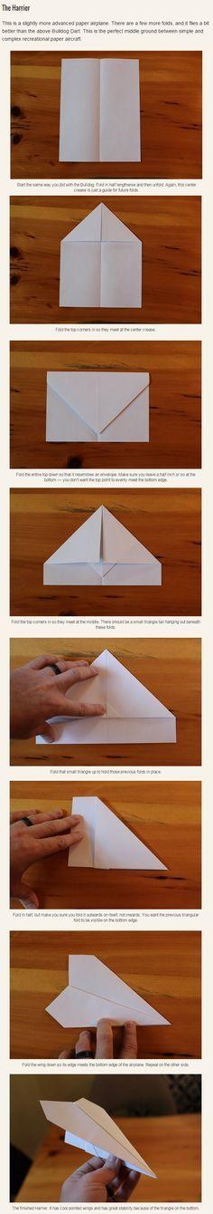 Du willst einen guten Papierflieger bauen? Versuch doch einmal diesen hier.