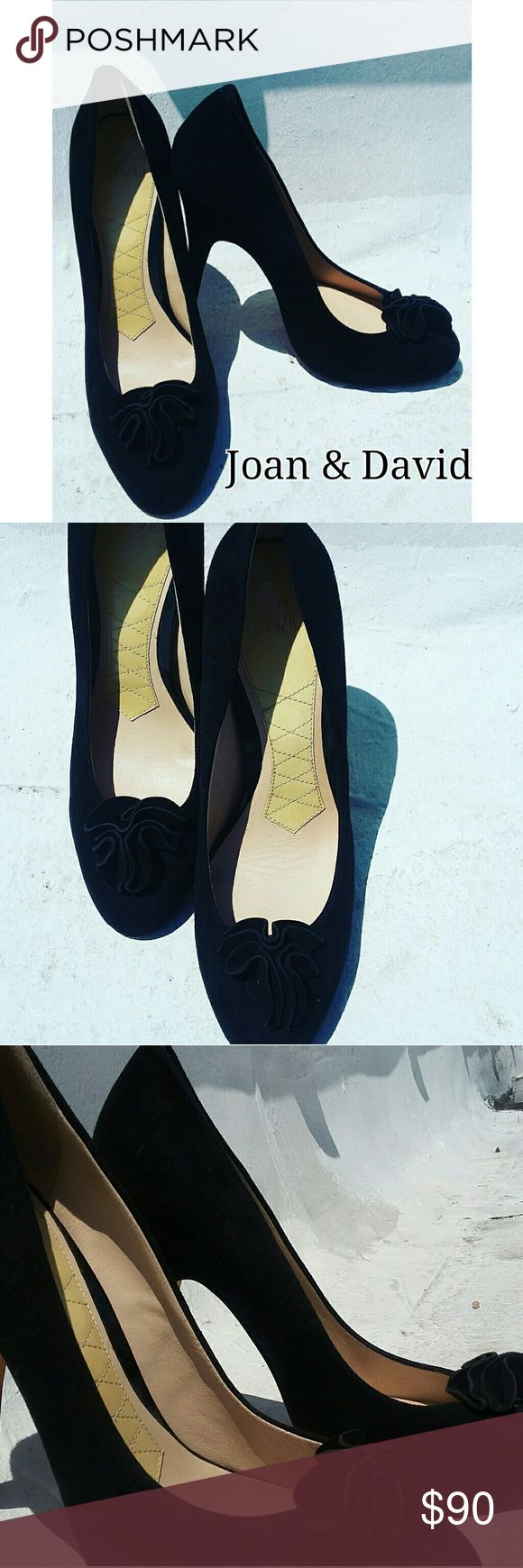 JOAN & DAVID BLACK SUEDE VALERIA PUMPS SZ 8.5 Worn once! JOAN & DAVID MADE IN ITALY CLASSIC VALERIA FLOWER CROWN SUEDE PUMPS SIZE 8.5  BUY NOW OR BUNDLE AND SAVE  WE LOVE OFFERS!  SUGGESTED SELLER  SAME DAY SHIPPING  SHOP WITH CONFIDENCE ???? Joan & David Shoes