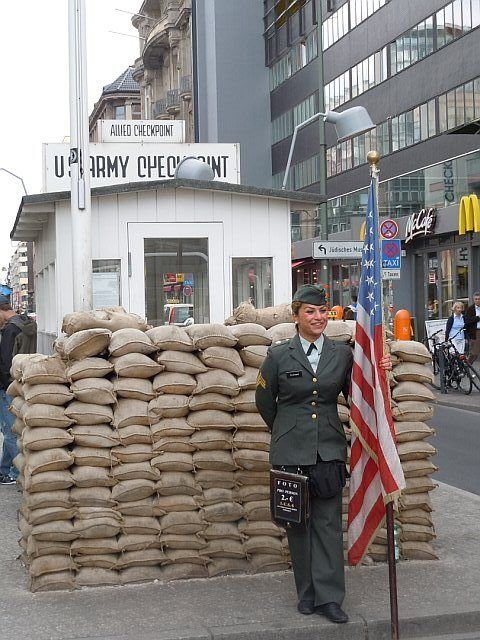 """Checkpoint Charlie. Two times I've been and didn't get the """"special"""" passport stamps either... Maybe if I go again."""
