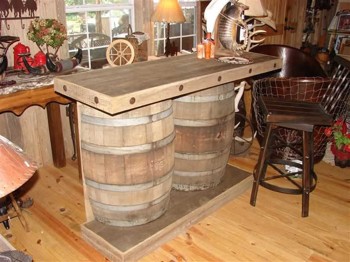 17 best images about wine barrel ideas on pinterest for How to make a wine barrel bar