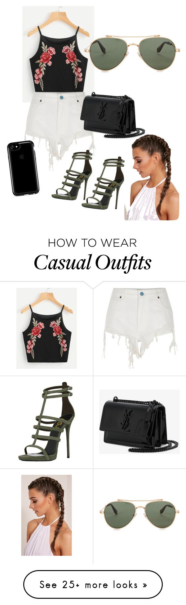 """""""Casual """" by efthimiaz on Polyvore featuring River Island, Yves Saint Laurent, Speck and Givenchy"""