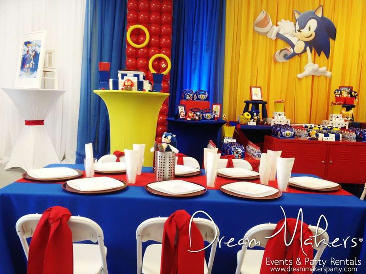 Frozen & Sonic Birthday Party Ideas | Photo 1 of 64 | Catch My Party